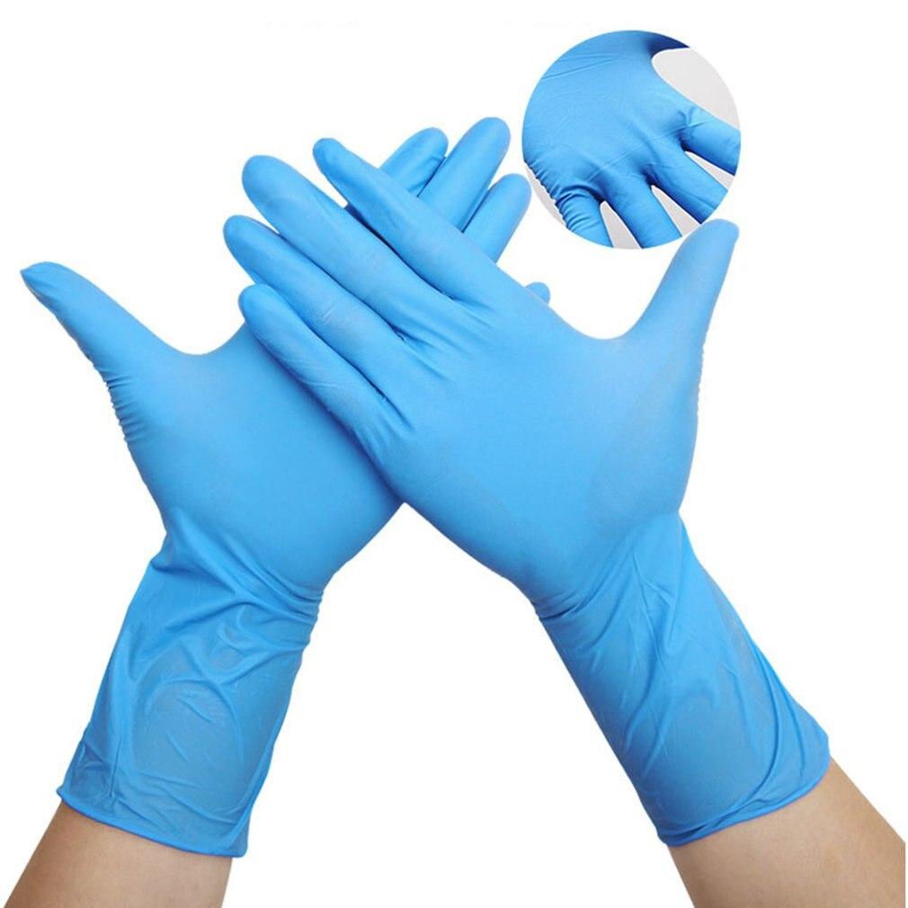 100Pcs/box Household Cleaning Washing Disposable Mechanic Gloves Nitrile Laboratory Nail Art Anti-Static Gloves