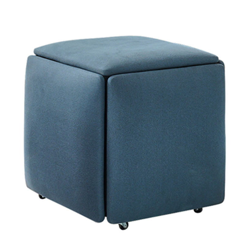 5 in 1 Sofa Stool Living Room Funiture Home Rubik's Cube Combination Fold Stool Iron Multifunctional storage stools Chair 1