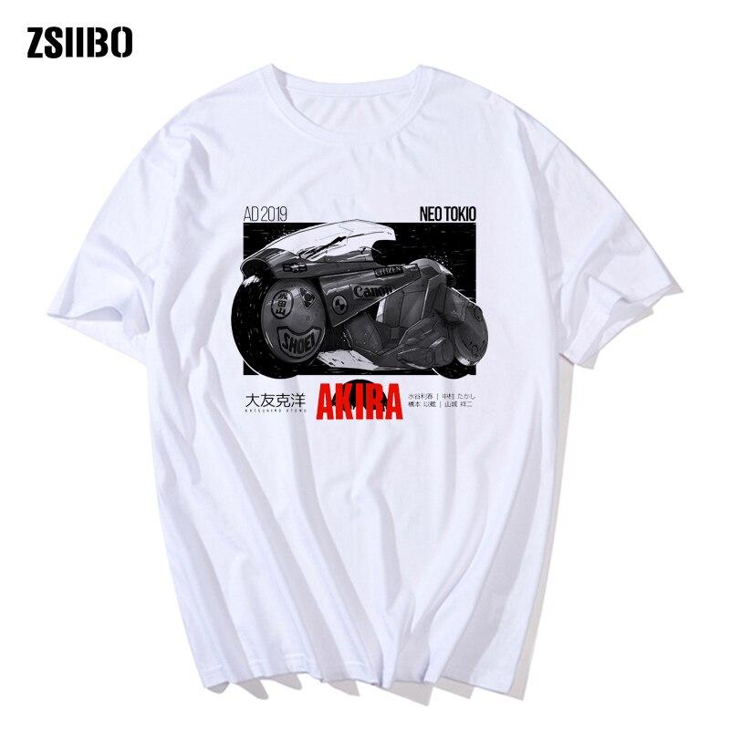 Модная футболка Harajuku Akira Synthwave, Мужская футболка с японским аниме, летняя повседневная футболка в стиле хип-хоп с короткими рукавами, одежда в уличном стиле с принтом из мультфильмов