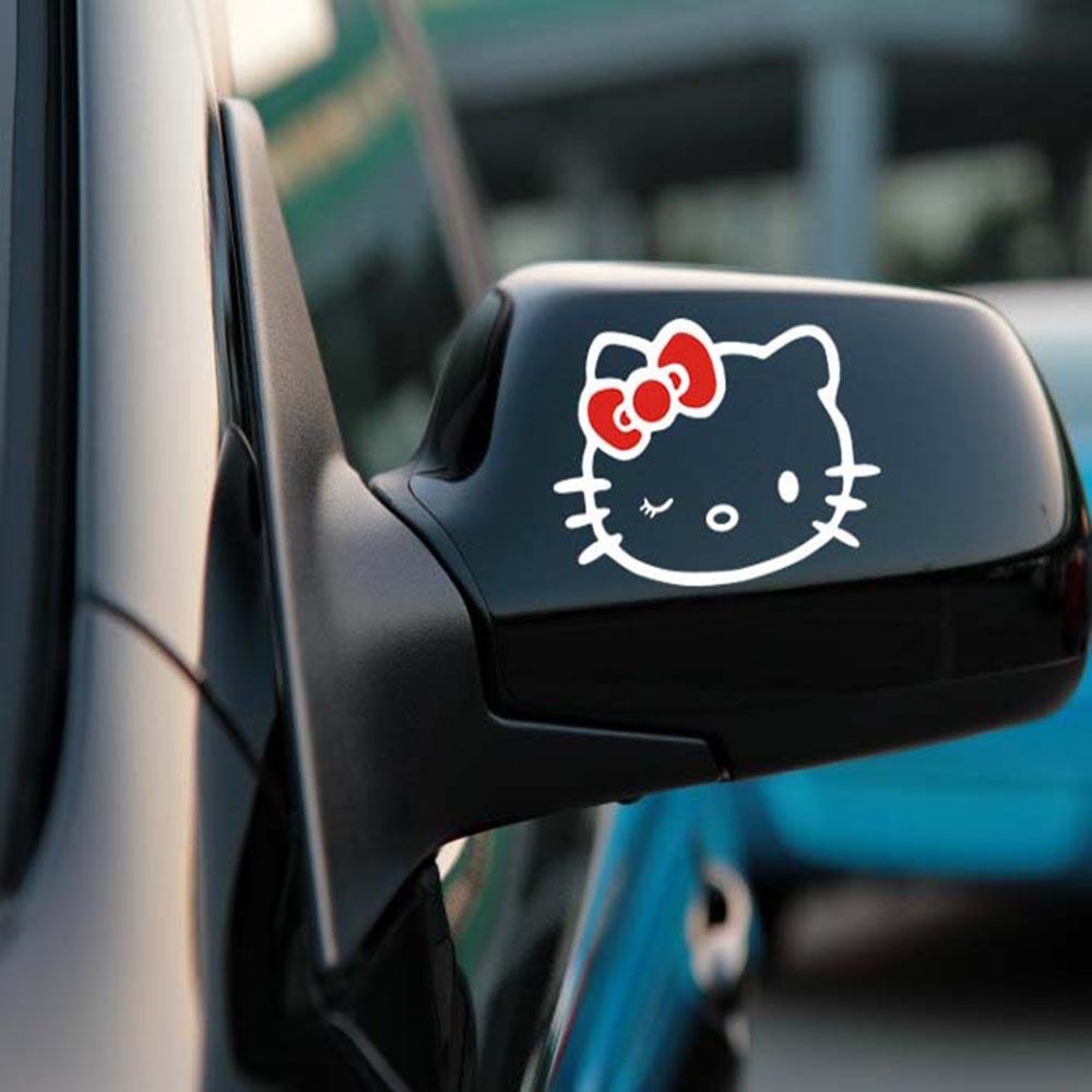 Aliauto 2 X забавные наклейки на зеркало заднего вида автомобиля и наклейки аксессуары для Volkswagen Polo Golf 11X8 см - Название цвета: Red White