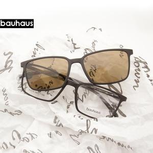 Image 1 - 2 + 1 Lenesแม่เหล็กแว่นตากันแดดMirrored Clipบนแว่นตากันแดดแว่นตาผู้ชายPolarized Custom Prescriptionสายตาสั้นX3179