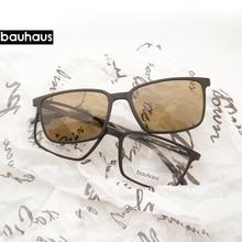 2+1 lenes Magnet Sunglasses Clip Mirrored Clip on Sunglasses clip on glasses Men Polarized Custom Prescription Myopia x3179