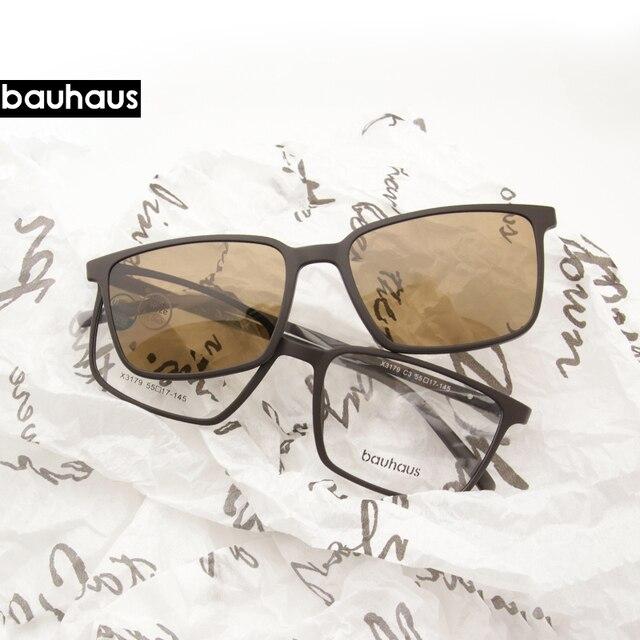 2 + 1 lenes מגנט משקפי שמש קליפ שיקוף קליפ על משקפי שמש קליפ על משקפיים גברים מקוטבות Custom מרשם קוצר ראיה x3179