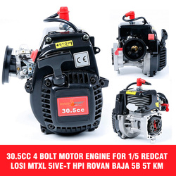 30.5cc Rovan 4 Bolt Motor Engine Fits 1/5 REDCAT LOSI 5IVE-T for HPI Baja 5b 5T KM With 668 Carburetor Spark Plug 8000RPM Clutch