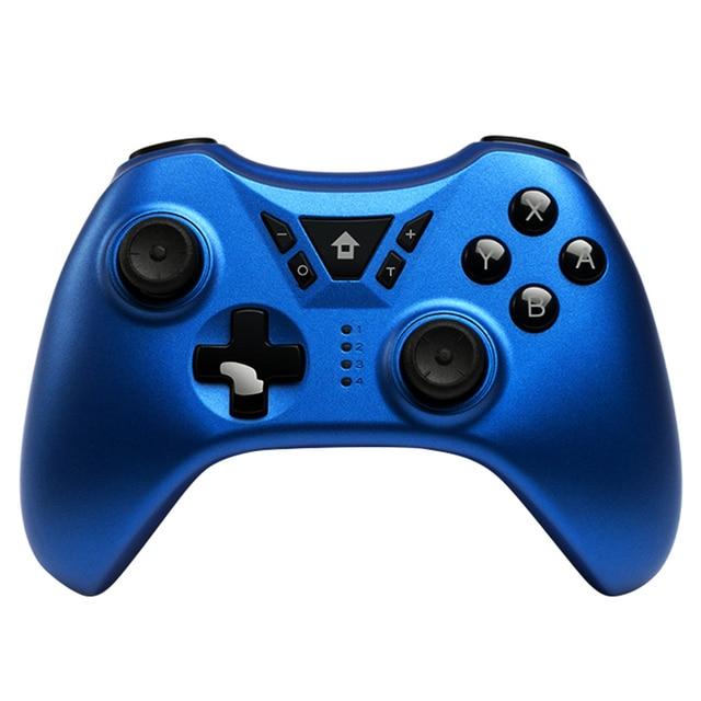 ใหม่ SWITCH Pro ไร้สายบลูทูธ Gamepad จอยสติ๊กสำหรับ Nintendo สวิทช์ NS สำหรับ PS3/PC/Android/ ไอน้ำ (สีฟ้า)