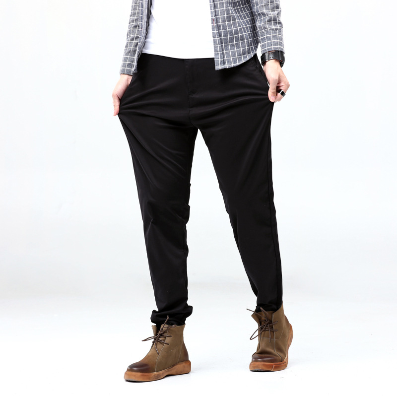 2019 Spring And Autumn New Style MEN'S Casual Pants Men's Trousers Plus-sized And Large Size Pants Pure Cotton Loose Straight Sp