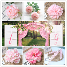 Pink Color Artificial Flower Wedding Rose Peony Hydrangea Plant Bouquet Wedding Decoration DIY Home Party Fake Flowers white color artificial flower wedding rose peony hydrangea plant bridal bouquet wedding decoration diy home party fake flowers