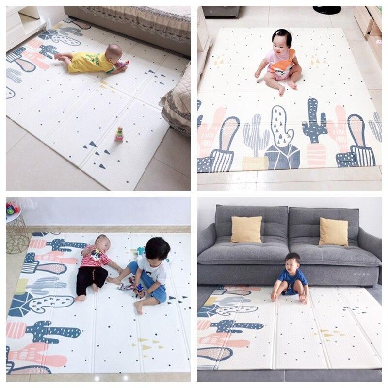 Infantile brillant XPE bébé tapis de jeu ramper Pad pliant épaississement Protection de l'environnement ménage enfants tapis de sol - 6