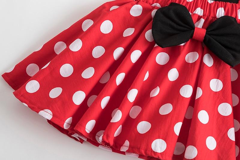 Mini Mouse Girls Dress 1-5 Years Birthday Party Kids Dresses for Girls Halloween Carnival Polka-Dot Chidlren Princess Dress up 5