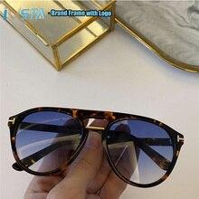 IVSTA Tom Top Quality with logo TF0697 Handmade Acetate Sunglasses Pilot Mirror