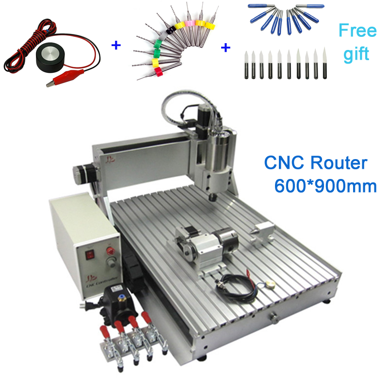 <font><b>CNC</b></font> router 6090Z 1.5KW 3 <font><b>axis</b></font> / <font><b>4</b></font> <font><b>axis</b></font> Engraving Drilling and Milling Machine engraving area 600*900mm image
