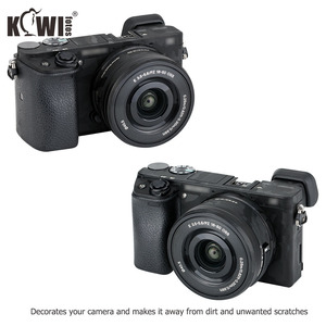 Image 2 - Kiwifotos Anti Scratch Camera Body Skin Cover Protector Film for Sony Alpha A6100 A6300 A6400 + SELP1650 16 50mm Lens 3M Sticker