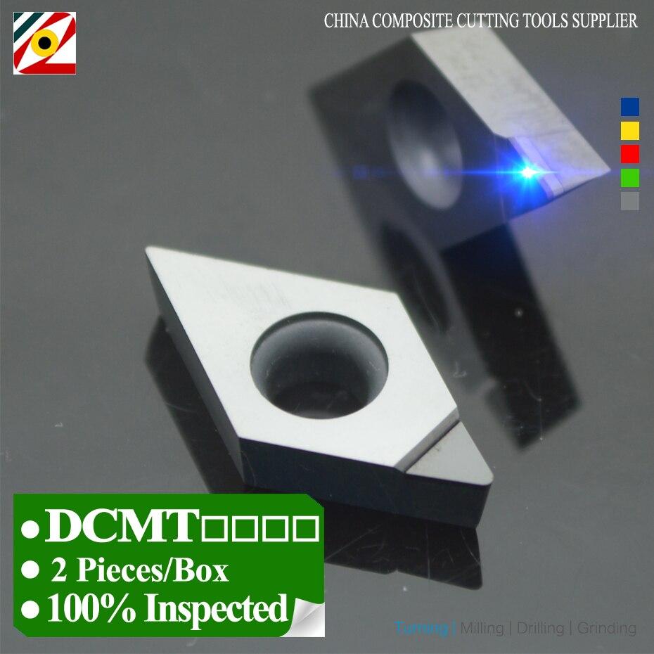 EDGEV 2 PCS PCD Insert DCMT070202 DCMT070204 DCMT11T302 DCMT11T304 DCMT11T308 DCMT Diamond Inserts Lathe Cutter CNC Tools
