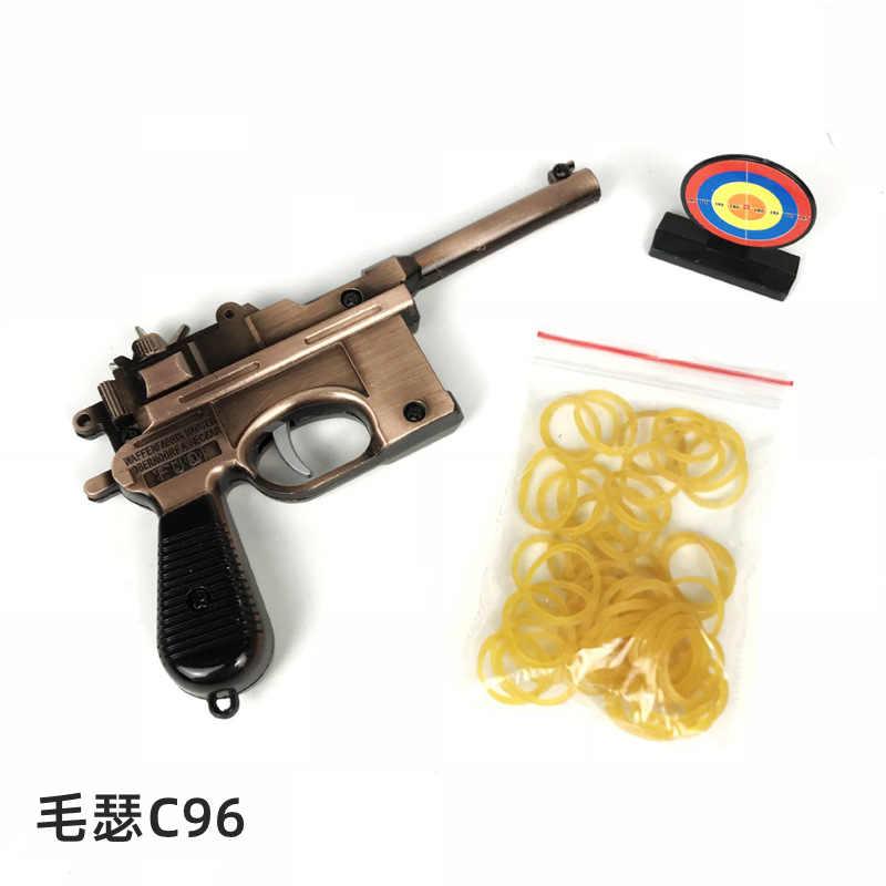 PUBG CS GO CF พวงกุญแจ Mausers C96 ทหารปืนอาวุธเกม Counter Strike CROSS Fire AK AWM 98K พวงกุญแจห่วงโซ่กุญแจ