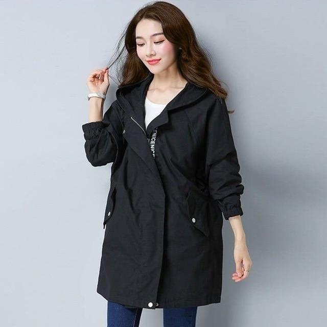 2020 Women Trench Casual loose Trench Coat oversize Vintage Cloak female Overcoats Windbreaker plus Size 4XL 5XL 3