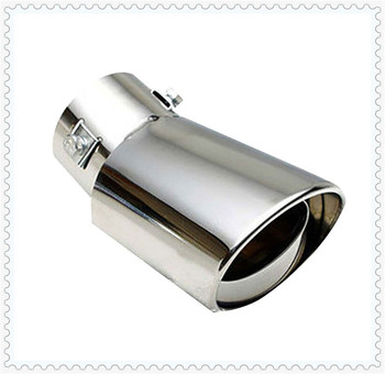 Universal Car Accessories Muffler Tip Round Stainless for BMW 760Li 320d 135i 335is Scooter Gran E36 F30 image