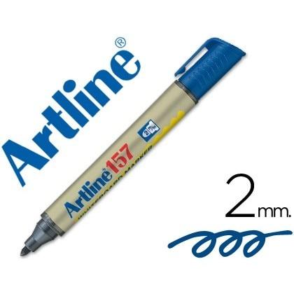 MARKER ARTLINE SLATE EK-157 BLUE-ROUND TOE 2 MM 12 Units