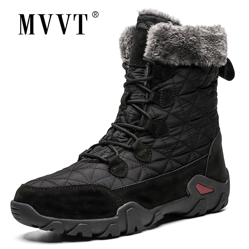 Super Warm Winter Men Snow Boots Genuine Leather Men Boots Outdoor Winter Waterproof Boots Men Shoes Botas Hombre