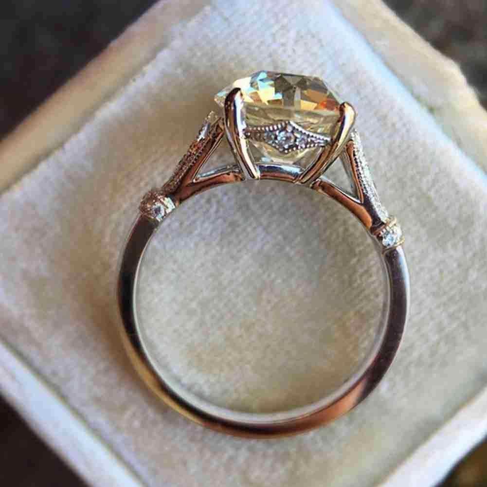 Новинка женское популярное Винтажное кольцо с кристаллами циркония модные лучшие серебряные обручальные кольца подарок ювелирные изделия свадебный цвет для женщин Ri B8A5