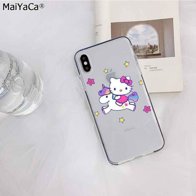 Maiyaca Hello Kitty Dễ Thương Tùy Chỉnh Điện Thoại Chụp Hình Cho iPhone SE 2020 11 PRO 8 7 66S Plus X XS Max 5 5S SE XR Di Động Bao
