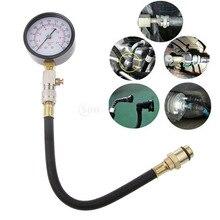 Compression Tester Kit (8 Piece Set) - Cylinder Compression Gas Engine Automotive
