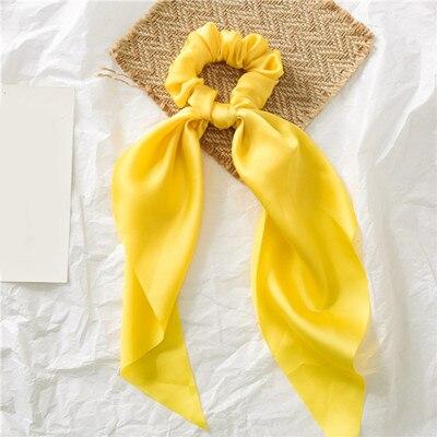 Модный летний шарф «конский хвост», эластичная лента для волос для женщин, бантики для волос, резинки для волос, резинки для волос с цветочным принтом, ленты для волос - Цвет: 0002