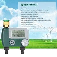 Sistema irrigação automática operada a bateria, controlador de irrigação, mangueira digital programável, temporizador de torneira com 2 tomada