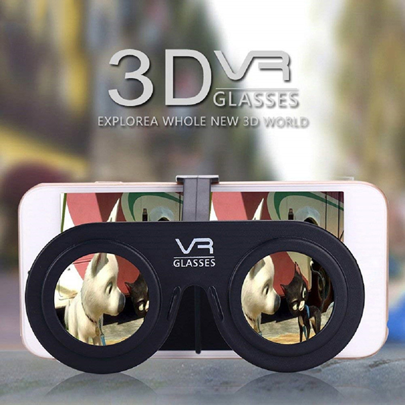 Mini folmini dobrável vr óculos de realidade virtual 3d ar portátil do telefone móvel simples presente digital eyesding realidade virtual