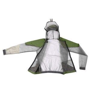 Image 5 - דוחה יתושים חיצוני חליפת באג מעיל רשת סלעית חליפות דיג ציד קמפינג מעיל חרקים מגן רשת חולצה כפפות