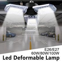 LED Lamp 60W 80W 100W Bulb E27 Garage Light Sensor 220V E26 Bombillas Waterproof Outdoor Commercial Lighting 110V