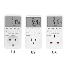 OOTDTY EU UK US Plug Outlet Digital Timer Socket Time Relay Switch Control Programmable A5YD energy saving programmable time switch 220v 50hz 16a eu us uk plug auto on off relay timer switch socket digital lcd power timer