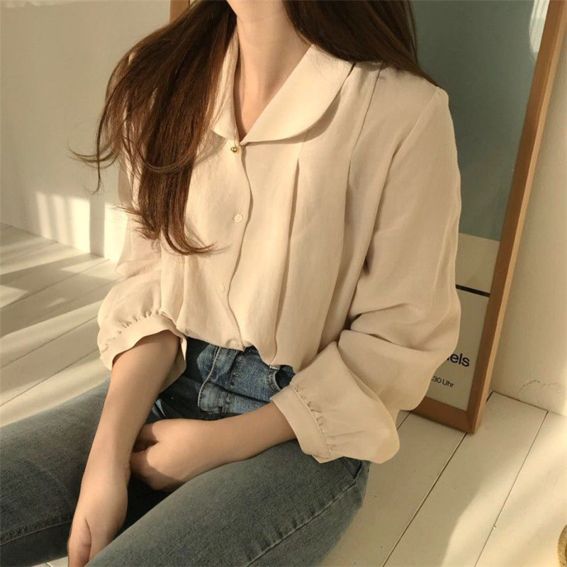 Alien Kitty Apricot Streetwear Sweet Female Lady Girls Casual Loose Blouses 2020 Fashion Fresh Full Sleeves Work Parties Shirt