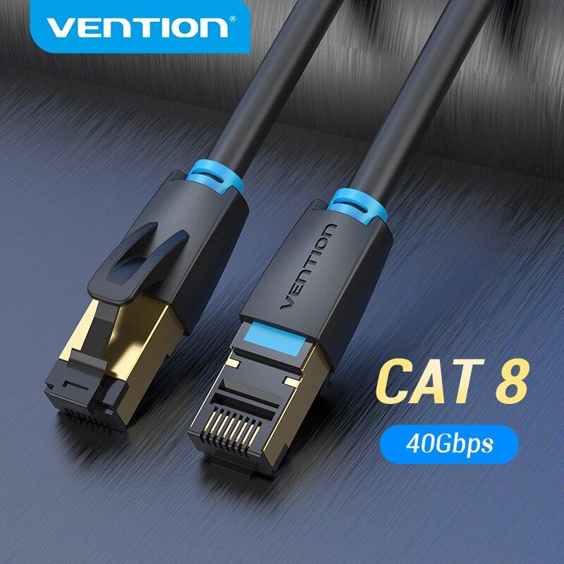 Vention Cat8 Ethernet Кабель SSTP 40 Гбит/с 2000 МГц Cat 8 RJ45 сетевой патч корд для маршрутизатора модем интернет RJ 45 Ethernet кабель| |   | АлиЭкспресс