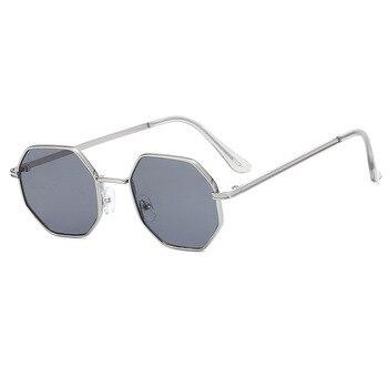 Higodoy Polygon Sunglasses Men Vintage Octagon Metal Sunglasses for Women Luxury Brand Goggle Sun Glasses Ladies Gafas De Sol 7