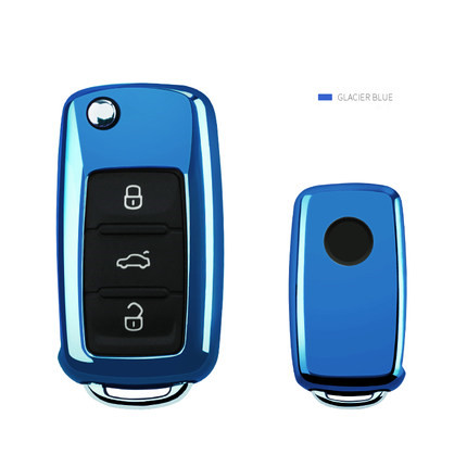 TPU Car Key Case For Volkswagen VW Passat Golf Jetta Bora Polo Sagitar Tiguan Auto Key Bag Cover Protector
