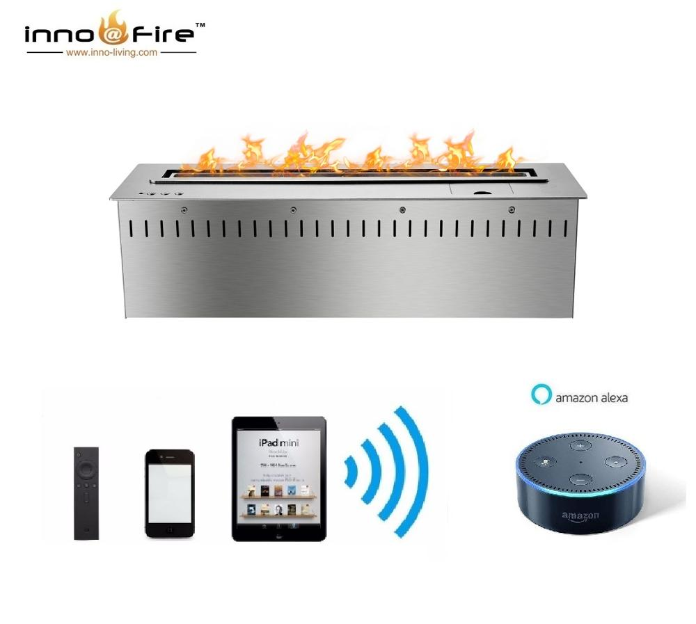 Inno Living Fire 36 Inch Smart Indoor Bioethanol Fireplace With Remote