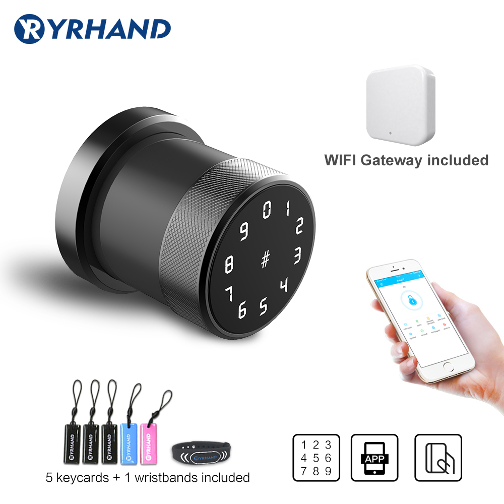 Electric WIFI Smart Door Lock  Digital Keypad Intelligent Smart Lock Waterproof App Password RIFD Card Lock With Gateway