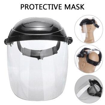 Anti-shock Welding Helmet Adjustable Clear Face Visor Mask Welding Shield Grinding Solder Mask Workwear Eye Protective Helmet