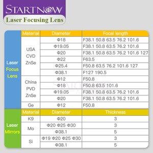 Image 4 - Startnow Focusing Lens Laser 20 19 18 15 12mm FL 50.8   127mm For CO2 Laser Cutting Carving Machine China ZnSe PVD Laser Lenses