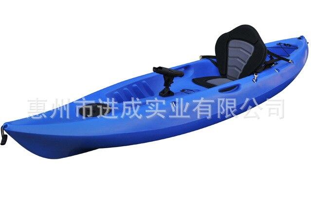 Single Person Canoe Kayak PE Plastic Boat Hard Boat Fishing Boat Platform Boat Rotational Kayaking Boat