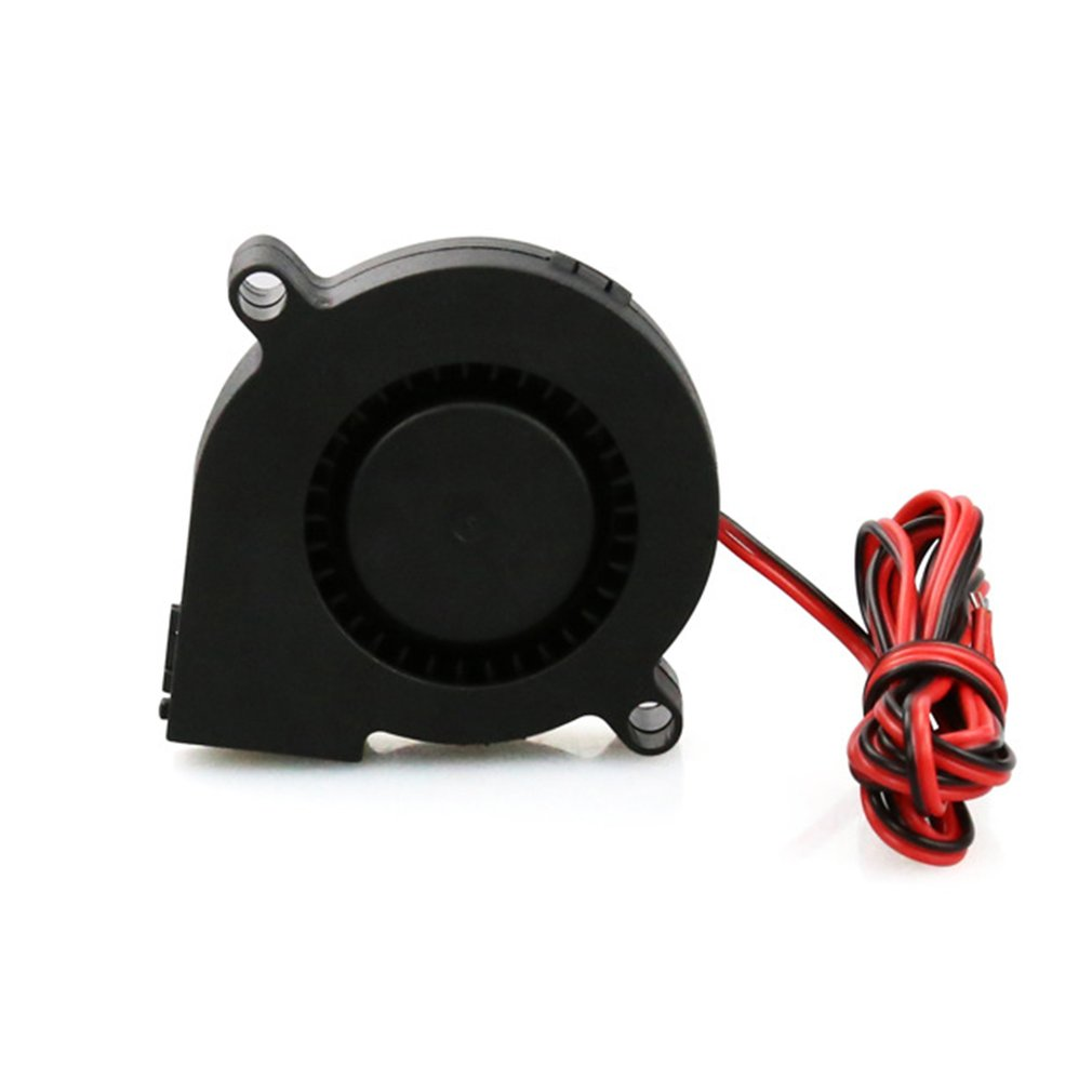 3D Printer Parts DC24V Cooling Fan Ultra Quiet Turbine Small DC Blower 5015 For 3D Printer Circuit Board DC12V 24V
