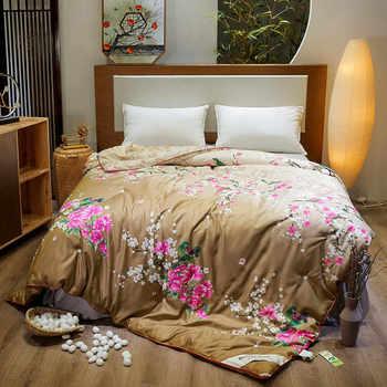 SlowDream 1PCS 100% טבעי משי מילוי מצעי שמיכת יוקרה כפולה אחת שמיכת מלכת מצעי בית בריא מילוי שמיכה