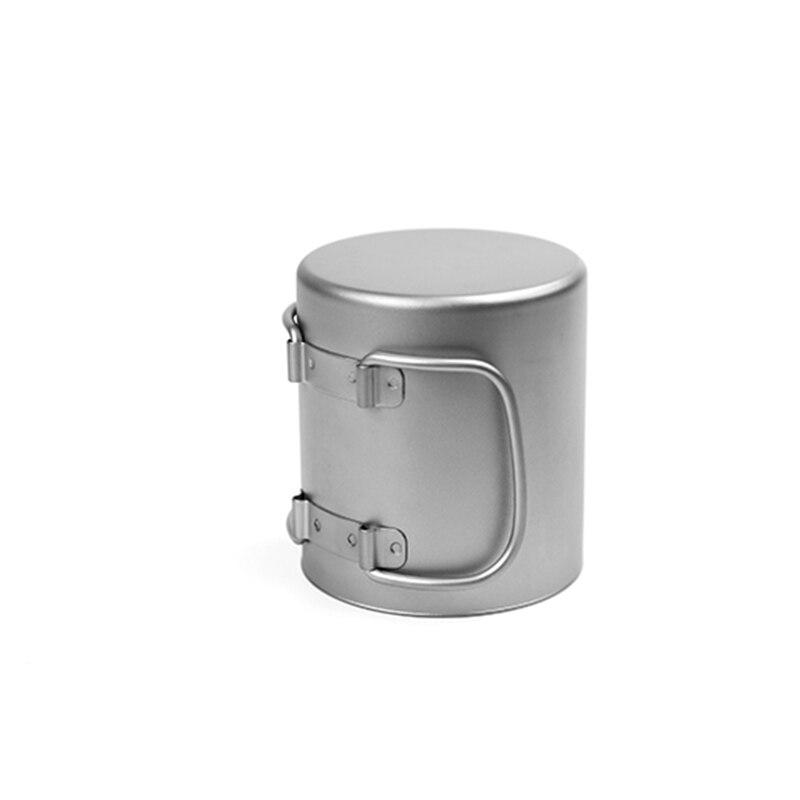 Кружка с двойной стенкой кофейная кружка теплоизоляция офисные кружки двойной кофе титановая чашка питьевое молоко путешествия кемпингов... - 4