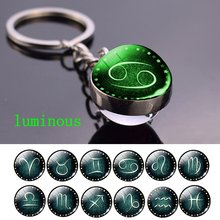 Светящийся брелок для ключей «Созвездие» прозрачный стеклянный