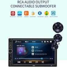 Mp5 player com suporte para apple android, conexão com mp5/mp3, rádio, bluetooth, entrada central multimidia, para carro e android