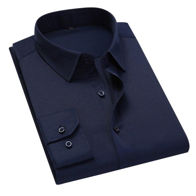 Классическая офисная мужская рубашка с длинным рукавом 3