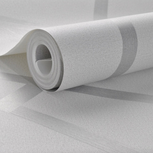 Image 4 - Серая Геометрическая настенная бумага для гостиной, спальни, серо белая узорная Современная дизайнерская настенная бумага в рулоне, домашний декор