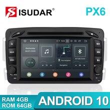Isudar PX6 2 Din Android 10 Auto lettore Multimediale GPS Per Mercedes/Benz/CLK/W209/W203/W208/W463/Vaneo/Viano/Vito radio Auto DVR