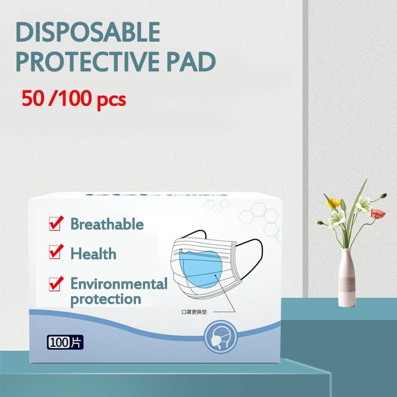200pcs Disposable Facial Mask Filter Pad haze Mask Universal Protective Replaceable Pad for KF94 N95 KN95 ffp3 All Face Mask 1