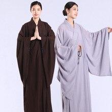 Медитация дзэн Шаолинь Hanfu Китайская традиционная Костюмы s для костюм монаха буддийская одежда костюм священника даосизм Тибетский одежда
